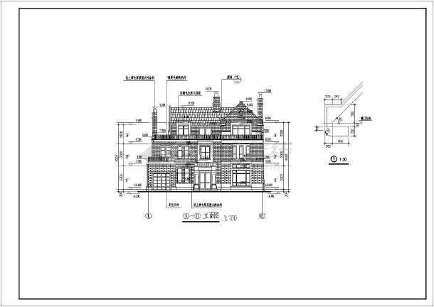 某英式风格别墅三层独栋别墅建筑施工图-图1