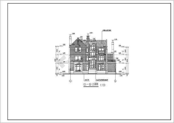某英式风格别墅三层独栋别墅建筑施工图-图2