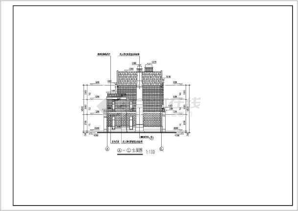 某英式风格别墅三层独栋别墅建筑施工图-图3