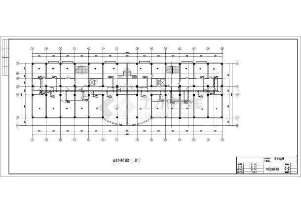 某综合办公楼空调设计施工cad图-图1