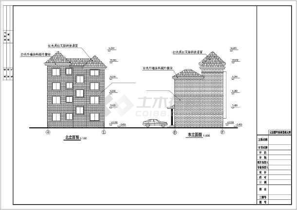四层新农村单家独院式别墅建筑结构设计图-图1
