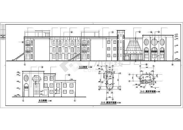 经典幼儿园建筑施工图纸(含设计说明)-图2