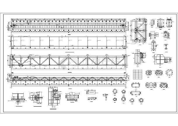 安徽省某城市50吨吊车梁车间设计图-图1