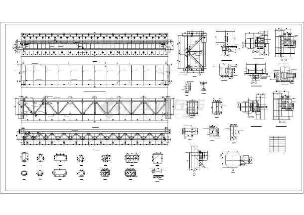 安徽省某城市50吨吊车梁车间设计图-图2