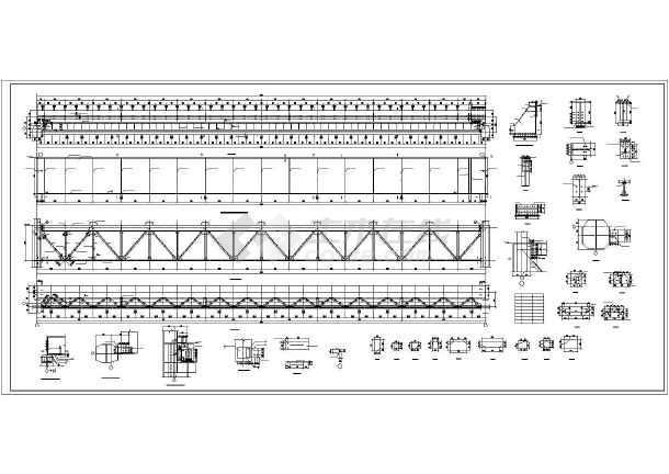 安徽省某城市50吨吊车梁车间设计图-图3