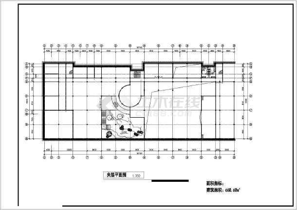 某学校教学综合楼方案图纸(共11张)-图1
