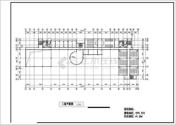某学校教学综合楼方案图纸(共11张)-图3