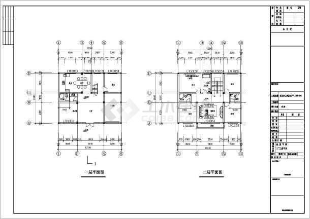 某12.2x9.8米别墅建筑结构施工图-图1
