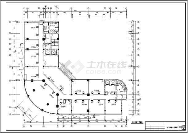 某地区商务楼空调接管平面cad施工图-图2
