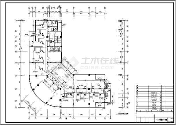 某地区商务楼空调接管平面cad施工图-图3