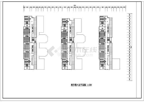 某学校教学楼设计方案图(共8张)-图2