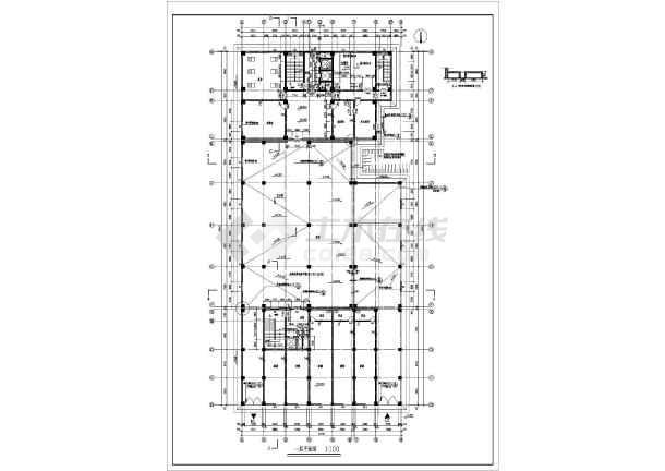 某地区大型宾馆建筑全套施工设计方案图纸-图1