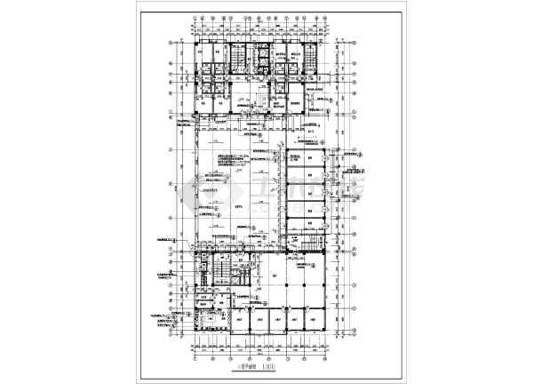 某地区大型宾馆建筑全套施工设计方案图纸-图2