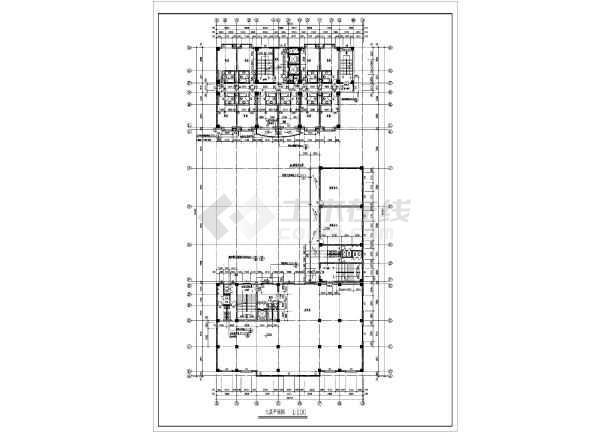 某地区大型宾馆建筑全套施工设计方案图纸-图3