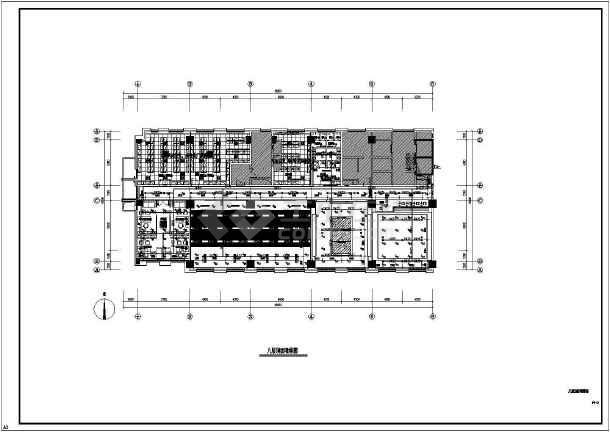 某银行沙龙365专业精装修设计图纸-图1