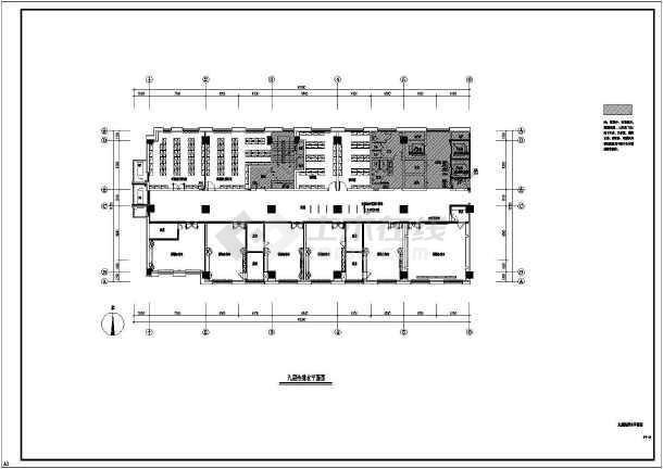 某银行沙龙365专业精装修设计图纸-图2