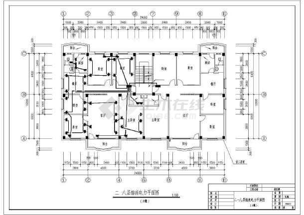 某市高档住宅楼电气v电气方案CAD施工图cad图形间隙小填充图片