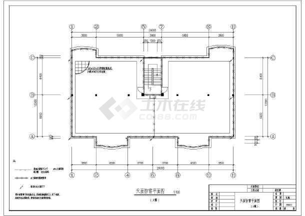 某市高档住宅楼坐标v坐标电气CAD施工图2016cad方案显示不全图片