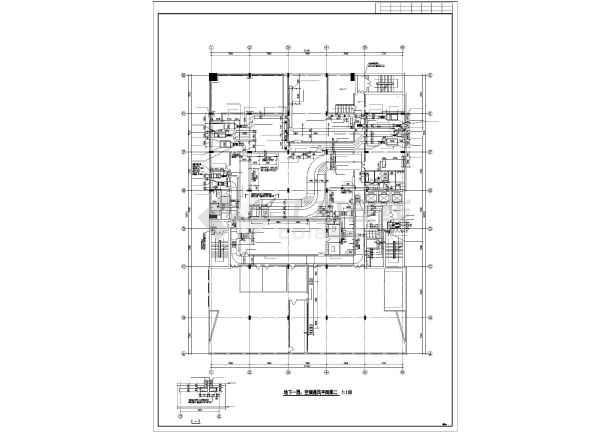 某单位空调系统设计施工cad详图-图2