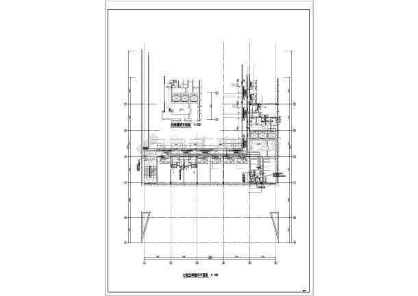 某单位空调系统设计施工cad详图-图3