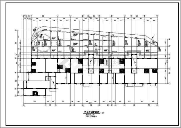高层剪力墙全套结构设计方案CAD图-图1