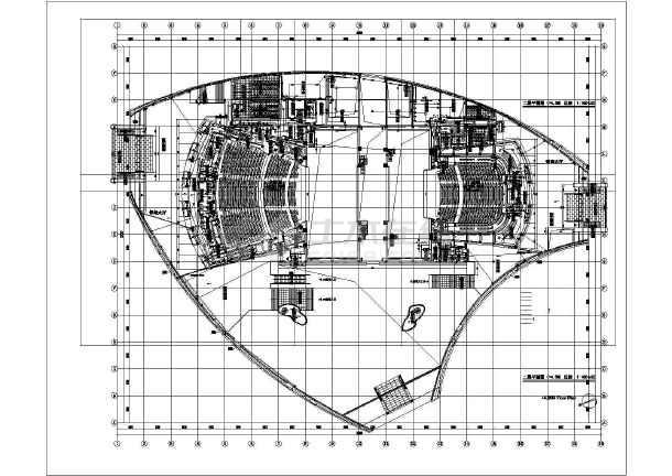 某地区大剧院电气设计cad施工图-图1