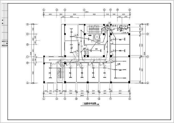 某地招待所电气设计方案CAD施工图-图1