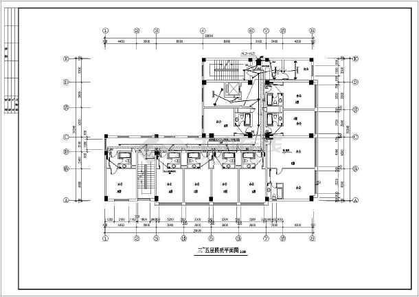 某地招待所电气设计方案CAD施工图-图2