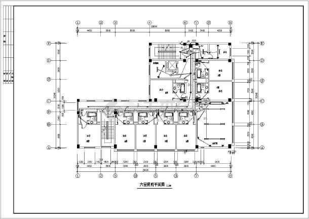 某地招待所电气设计方案CAD施工图-图3