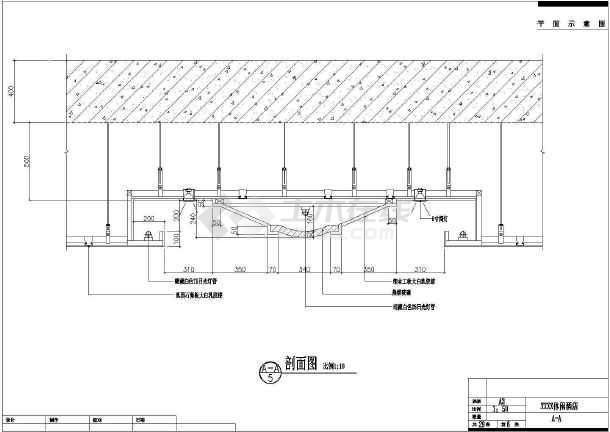 某地区大型桑拿洗浴吊顶装修图(标注详细)-图2