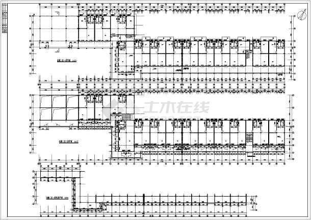 某地区繁华步行街建筑施工设计方案图-图2