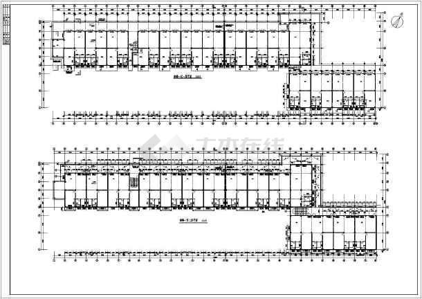 某地区繁华步行街建筑施工设计方案图-图3