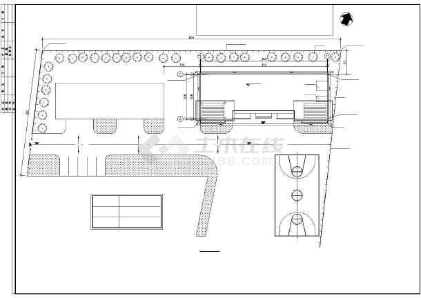 大堡小学教学楼建筑施工图纸(全套)-图1