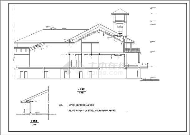某地区会所空调设计cad施工详图-图1