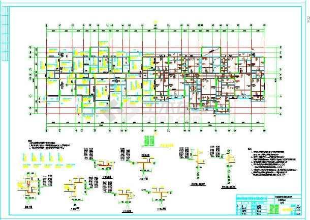 高层安置房结构设计CAD施工图纸-图1