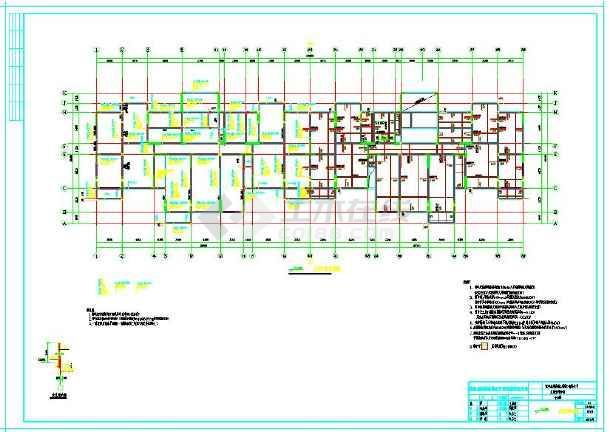 高层安置房结构设计CAD施工图纸-图2