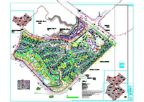 某地300亩别墅区沙龙365综合设计图纸-图1