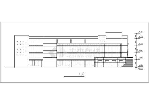 某地区4层大学展览馆方案CAD设计图-图1