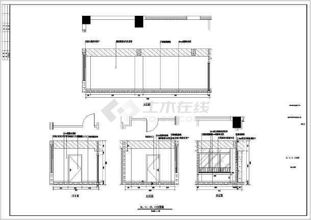 某市电子信息平台扩展改造工程装修设计施工图-图1