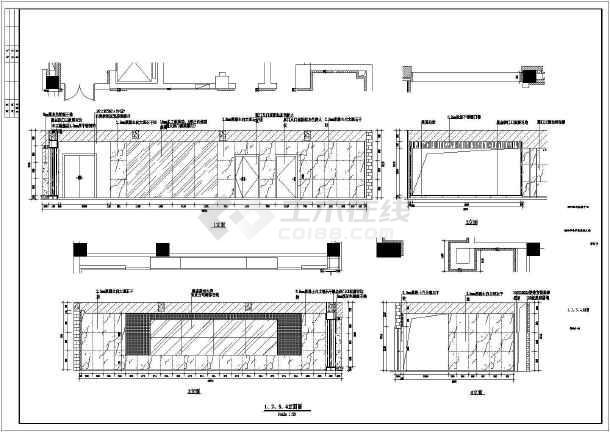 某市电子信息平台扩展改造工程装修设计施工图-图3