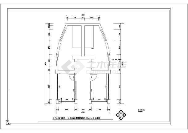 某地城镇改造公共厕所改造设计图纸-图1