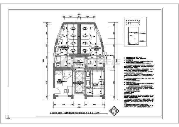 某地城镇改造公共厕所改造设计图纸-图3
