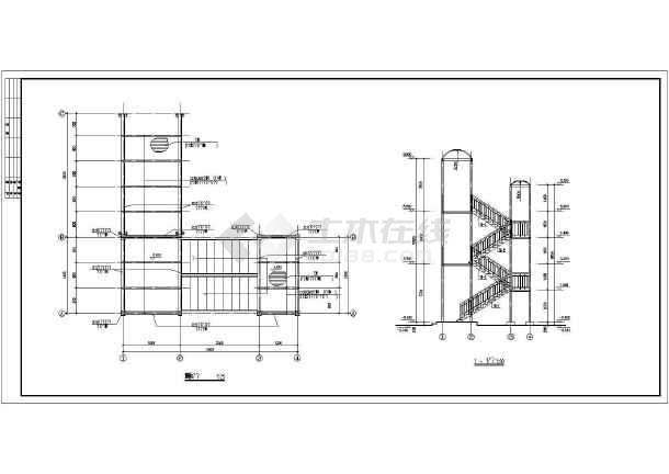钢结构走廊楼梯的全套cad施工设计图纸-图2