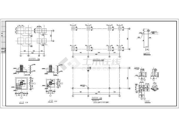 钢结构走廊楼梯的全套cad施工设计图纸-图3