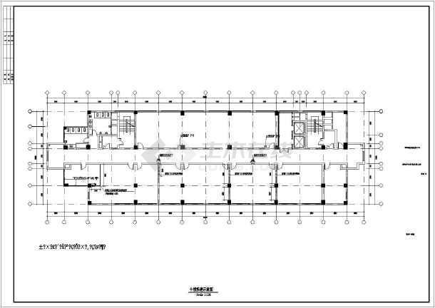 某市电子信息平台扩展改造工程土建施工图-图1