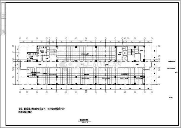 某市电子信息平台扩展改造工程土建施工图-图3