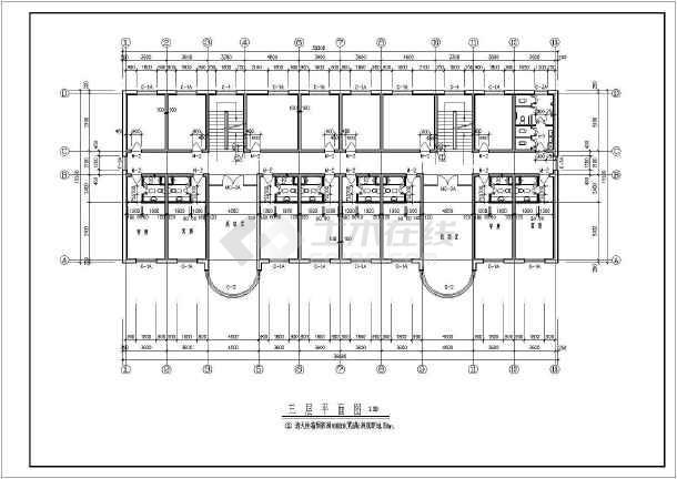 某地小型三层养老院全套图建筑cad设计图图片