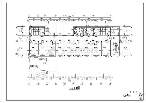 某地小型养老院建筑cad设计图(含设计说明)图片