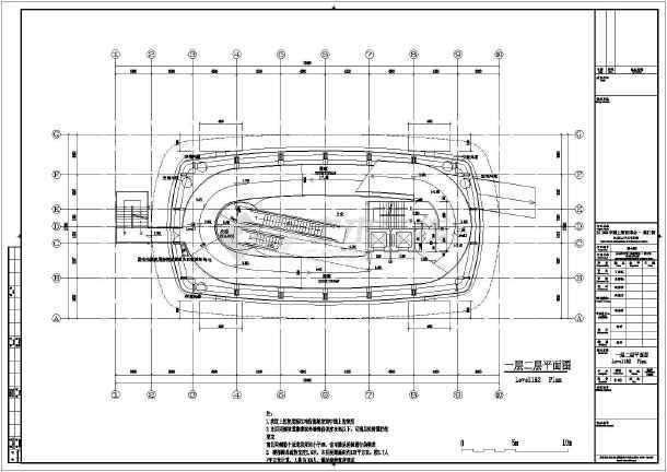 8层世博会澳门馆初步设计方案平立剖面CAD图-图1