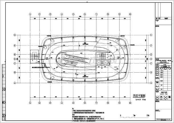 8层世博会澳门馆初步设计方案平立剖面CAD图-图3